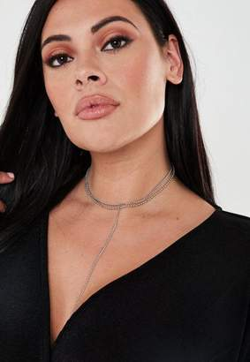 Missguided Size Silver Look Multi Chain Necklace