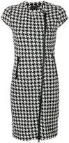 Love Moschino zipped houndstooth dress