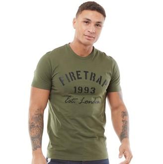Firetrap Mens Urban T-Shirt Olive Night