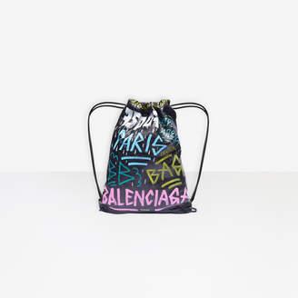 Balenciaga Graffiti Bazar Drawstring Bag