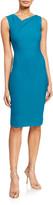 Roland Mouret Grainger Crepe Fold-Neck Dress