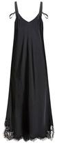 Helmut Lang Satin And Lace Slip Dress