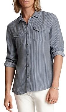 John Varvatos Dale Stripe Regular Fit Button-Down Western Shirt