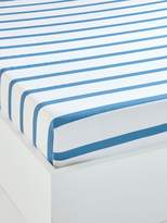 Children's Fitted Sheet, Arty Theme - blue medium striped, Furniture & Bedding | Vertbaudet