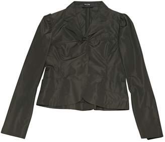 Miu Miu Anthracite Polyester Jackets