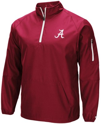 Colosseum Men's Crimson Alabama Crimson Tide Tips Half-Zip Wind Jacket