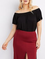 Charlotte Russe Plus Size Off-The-Shoulder Top
