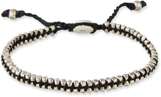 M. Cohen Men's Two-Row Stamped Beads Bracelet