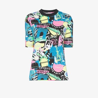 Balenciaga Paris Night print T-shirt