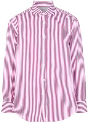 Brunello Cucinelli Striped-Print Buttoned Shirt