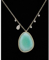Meira T 14k Two-tone 10.28 Ct. Tw. Diamond & Amazonite Pendant.