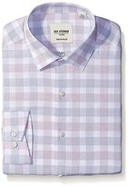 Ben Sherman Men's Check Shirt with Spread Collar-Red, Red/Navy, .969696969697