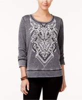Style and Co Petite Patterned Sweatshirt, Created for Macy's