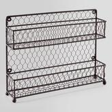 Cost Plus World Market Wire Two-Tier Spice Rack