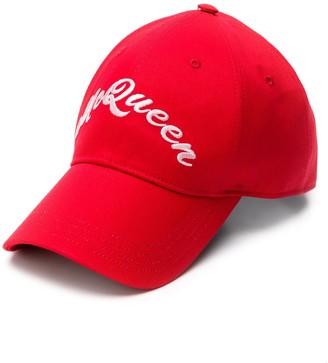 Alexander McQueen Embroidered Front Logo Cap