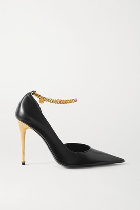 Tom Ford Chain-embellished Leather Pumps - Black