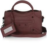 Balenciaga Blackout City mini leather cross-body bag
