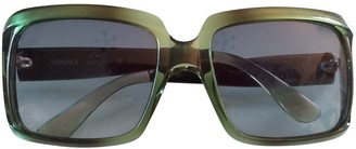 Versace Green Plastic Sunglasses