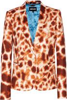 Just Cavalli Printed stretch-faille blazer