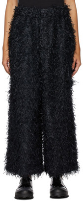 Issey Miyake Black Shaggy Trousers