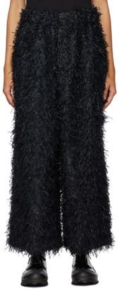 Issey Miyake Black Shaggy Trousers