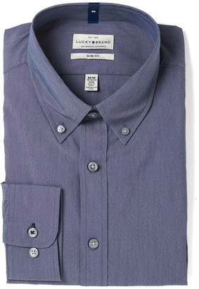 Lucky Brand Indigo Chambray Slim Fit Dress Shirt