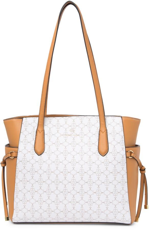 Nanette Lepore Logo Leather Tote Bag