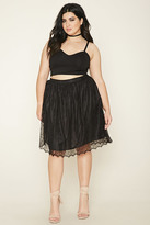 Forever 21 FOREVER 21+ Plus Size Floral Lace Skirt