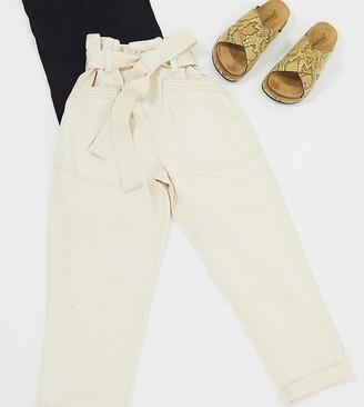Topshop Petite utility trouser in ecru