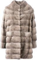 Liska - Cheyenna coat - women - Mink Fur/Cupro - S