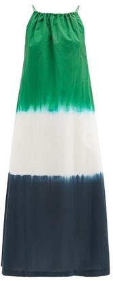 Arizona Love Athene Tie-dye Cotton-poplin Dress - Green Print