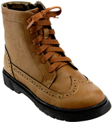 Jelly Beans Light Brown Lace-Up Cole Boot