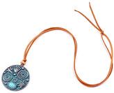Mexzotic MexZotic Women's Necklaces Silver/Gold - Leather & Blue Stone Pendant Necklace