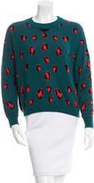 Torn By Ronny Kobo Leopard Print Long Sleeve Sweater