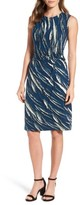 Nic+Zoe Petite Women's Tiger Lily Twist Front Sheath Dress