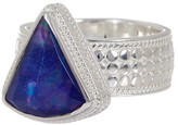 Anna Beck Sterling Silver Lapis Triplet Triangle Ring