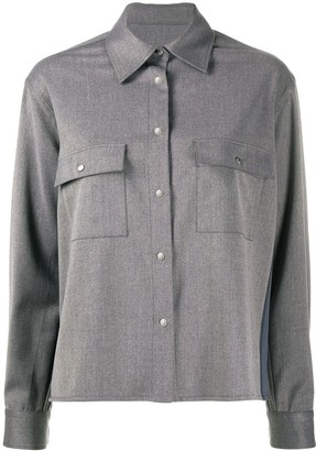 Koché Cut-Out Button-Up Shirt