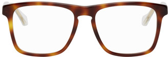 Gucci Tortoiseshell and Transparent Square Glasses