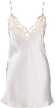 La Perla Lace Trim Camisole Dress