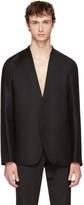 Maison Margiela Black Flannel No Lapel Blazer