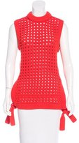 Tibi Sleeveless Mock Neck Sweater