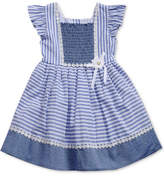 Sweet Heart Rose Striped Smocked Dress, Toddler Girls