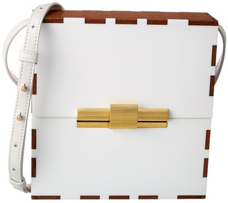 Bottega Veneta Daisey Wood & Leather Clutch