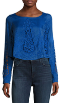The Jetset Diaries Gypsy Cotton Lace Embroidered Blouse
