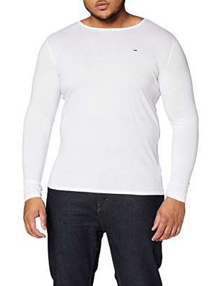 Tommy Jeans Men's Round Collar Long Sleeve Top,XX-Large