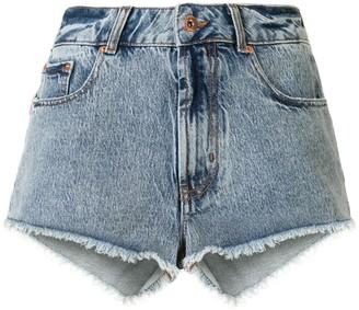 Filles a papa Frayed Denim Shorts