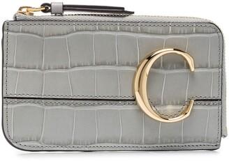Chloé Croc-Effect Leather Coin Purse
