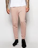 Asos Skinny Joggers In Light Pink
