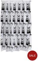 Aqualona Zebra Shower Curtain - Multi