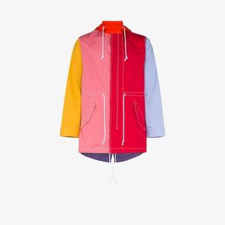 Comme des Garcons Hooded drawstring waist jacket